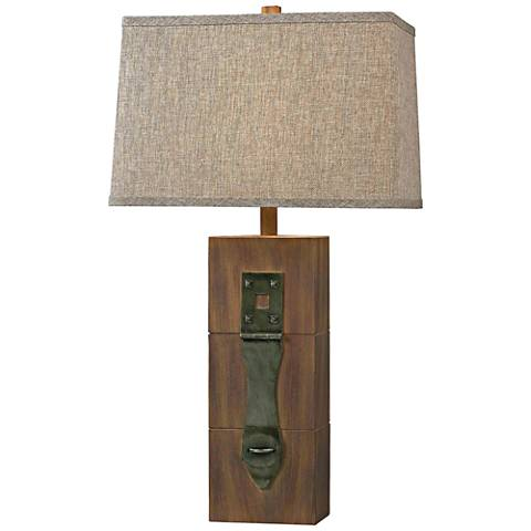 Kenroy Home Locke Wood Grain Table Lamp