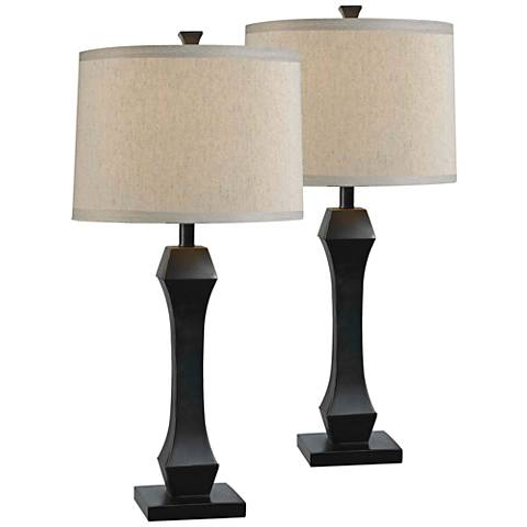 Kenroy Home Gemini Oil Rubbed Bronze Table Lamp Set of 2