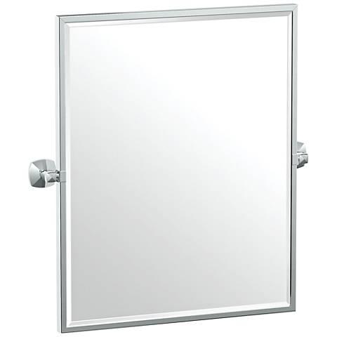 """Gatco Jewel Chrome 24 1/2"""" x 25"""" Framed Wall Mirror"""
