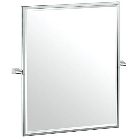 "Gatco Bleu Chrome 23 1/2"" x 25"" Framed Wall Mirror"