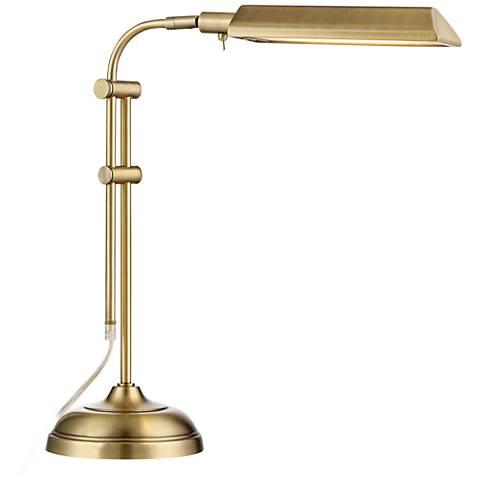 Culver LED Pharmacy Style Desk Lamp Satin Brass
