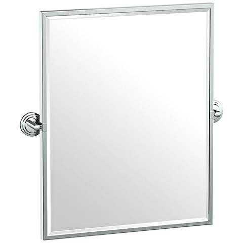 "Gatco Marina Chrome 24 1/4"" x 25"" Framed Wall Mirror"