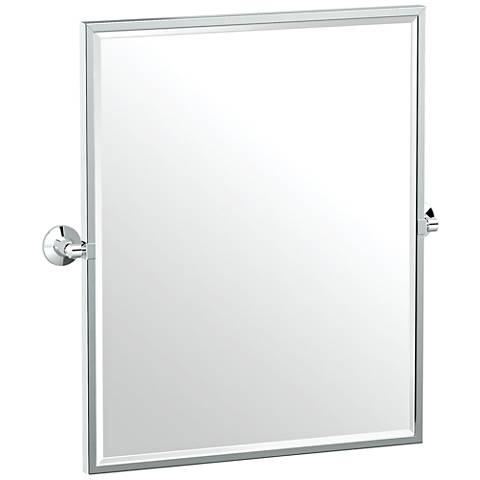 "Gatco Max Chrome 24"" x 25"" Framed Wall Mirror"