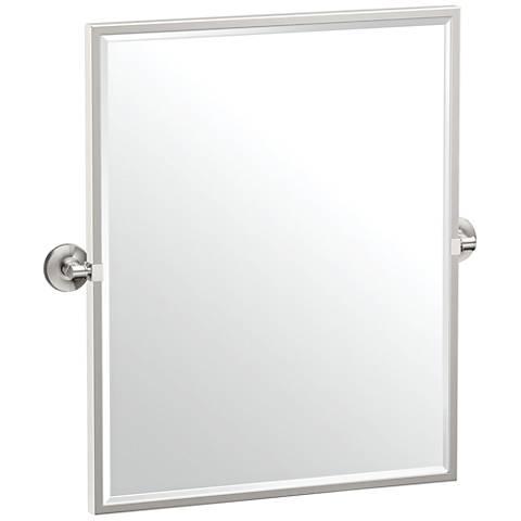 "Gatco Montgomery Satin Nickel 24 1/2"" x 25"" Wall Mirror"