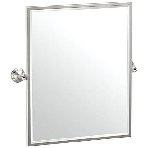 "Gatco Charlotte Satin Nickel 24 1/2"" x 25"" Wall Mirror"