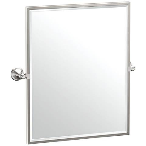 "Gatco Laurel Ave Satin Nickel 24 1/4"" x 25"" Wall Mirror"