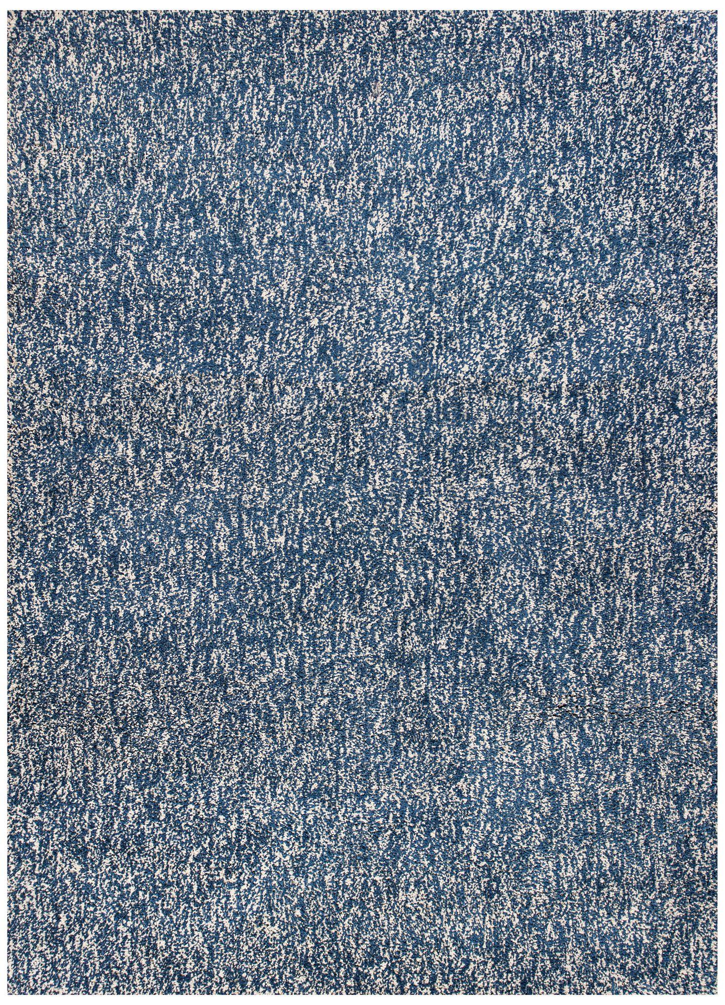 bliss indigo and ivory heather shag area rug