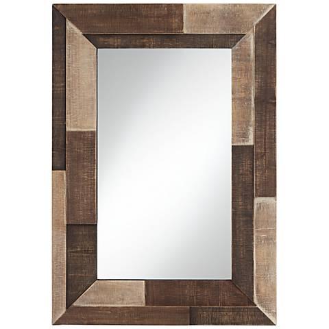 "Deacon Three-Tone 28"" x 39 1/2"" Rectangular Wall Mirror"