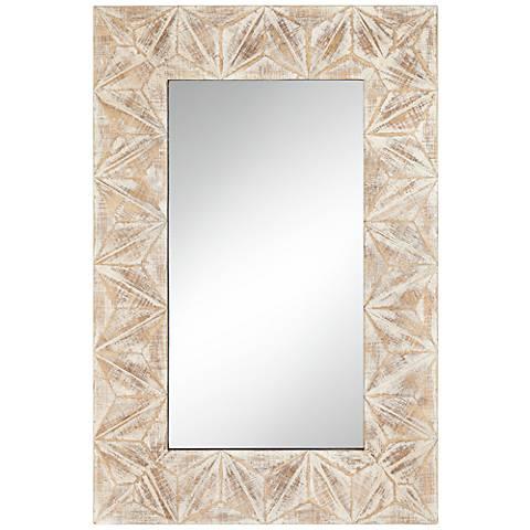 """Danz Triangle Cut Natural 26 1/2"""" x 39 1/2"""" Wall Mirror"""