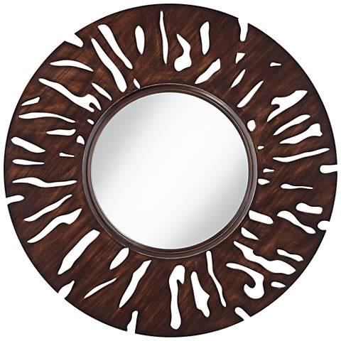 "Afia 31 1/2"" Round Cutout Wall Mirror"