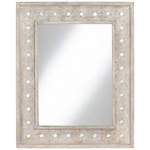 "Pari Gray Diamond 32 1/4"" x 40 1/4"" Rectangular Mirror"