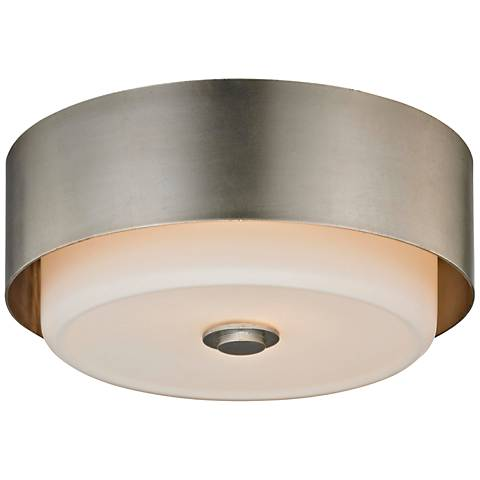 "Allure 13"" Wide Silver Leaf Round Ceiling Light"