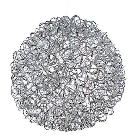 "ET2 Dazed 23 1/2"" Wide Polished Chrome LED Pendant Light"