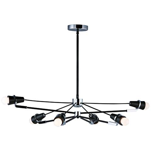 "ET2 Bounce 28 1/2"" W Black and Chrome 6-Light LED Pendant Light"