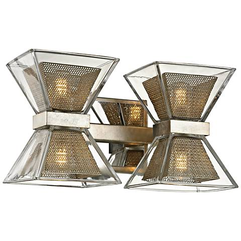 """Expression 7"""" High Silver Leaf 4-Light LED Wall Sconce"""