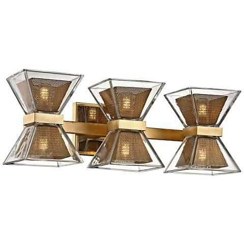 """Expression 20"""" Wide Gold Leaf 6-Light LED Bath Light"""