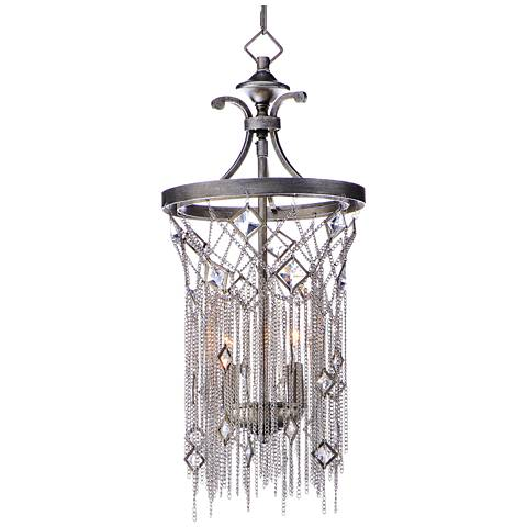 "Maxim Alessandra 10"" Wide Silver Mist 2-Light Mini Pendant"