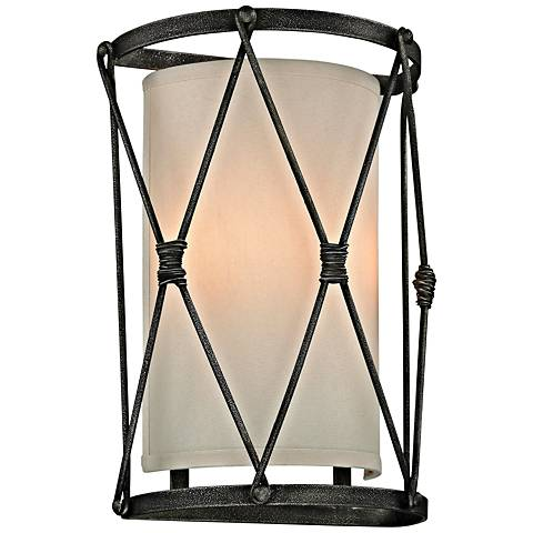 """Palisade 14"""" High Aged Pewter Wall Sconce"""