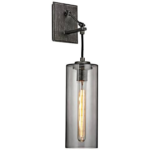 """Union Square 20 3/4"""" High Graphite Wall Sconce"""