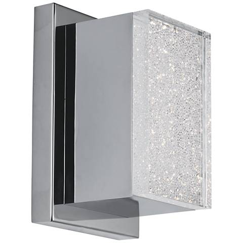 "ET2 Pizzazz LED 7"" High Polished Chrome LED Wall Sconce"