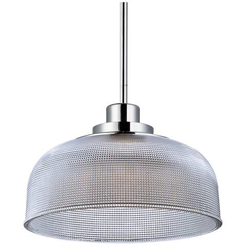 "Maxim Retro 10 1/2"" Wide Polished Nickel LED Mini Pendant"