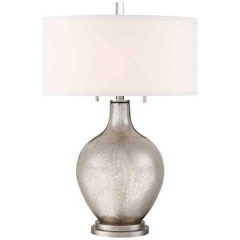 Possoni Euro Louie Mercury Glass Table Lamp