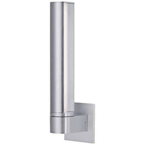 "ET2 Alumilux AL 15 1/4"" High Satin Aluminum LED Wall Sconce"