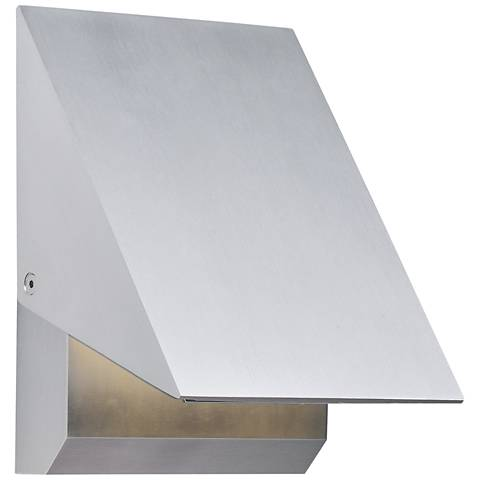 "ET2 Alumilux AL 7""H Satin Aluminum LED Outdoor Wall Light"