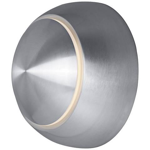 "Alumilux AL 4 3/4""H Satin Aluminum LED Outdoor Wall Light"