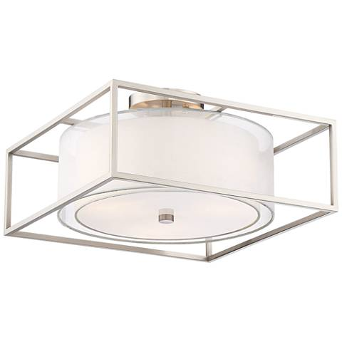 "Possini Euro Anders 16"" Brushed Nickel Ceiling Light"