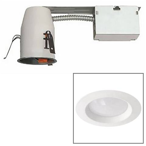 "White 3"" Airtight 8 Watt Complete LED Remodel Recessed Kit"