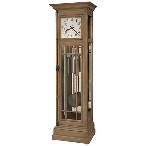 "Howard Miller Davidson II Aged Natural 81"" High Floor Clock"