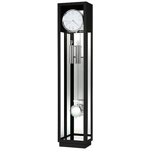 "Howard Miller Whitelock II Gloss Black 76"" High Floor Clock"