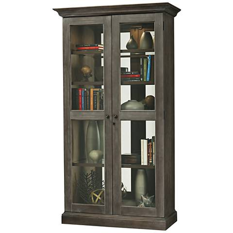 Howard Miller Lennon III Aged Auburn 2-Door Display Cabinet