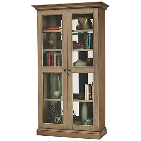 Howard Miller Lennon IV Aged Natural 2-Door Display Cabinet