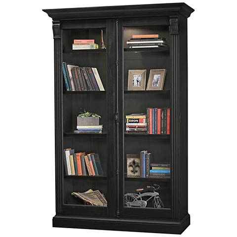 Howard Miller Chadsford IV Aged Black 2-Door Display Cabinet