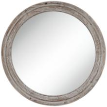 "Connor Gray Washed 28"" Round Wall Mirror"