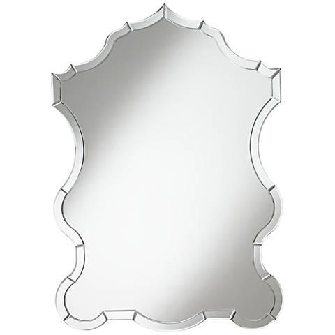 """Wineva 28""""x40"""" Curving Clear Glass Wall Mirror"""