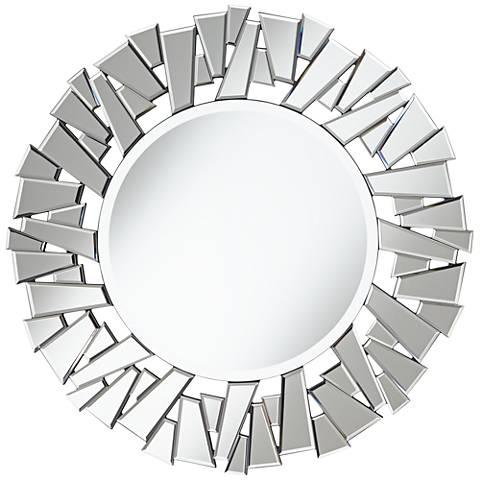 """Jaxson Jagged Edge 31 1/2"""" Round Wall Mirror"""