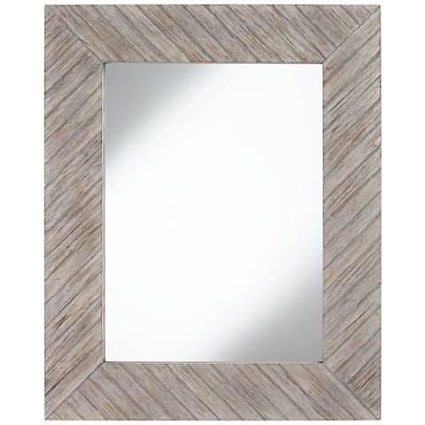 "Miya Gray 32"" x 39 1/2"" Rectangular Wall Mirror"