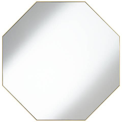 "Colin Gold 32"" Octagon Wall Mirror"