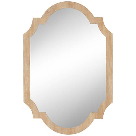 "Hayley Natural and Beige 27"" x 40"" Wall Mirror"