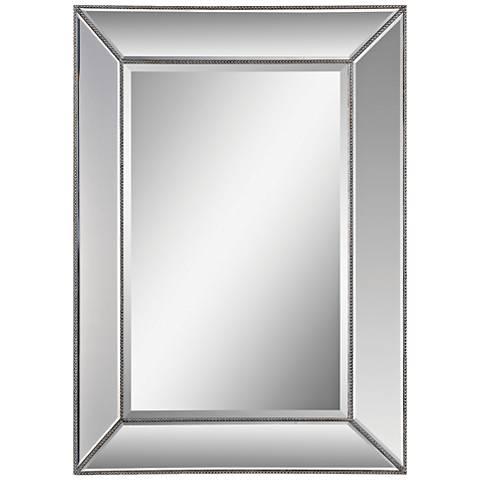 """Whitney Silver Leaf 34"""" x 46"""" Rectangular Wall Mirror"""