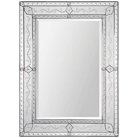 "Gianna Glass 37"" x 48"" Rectangular Wall Mirror"