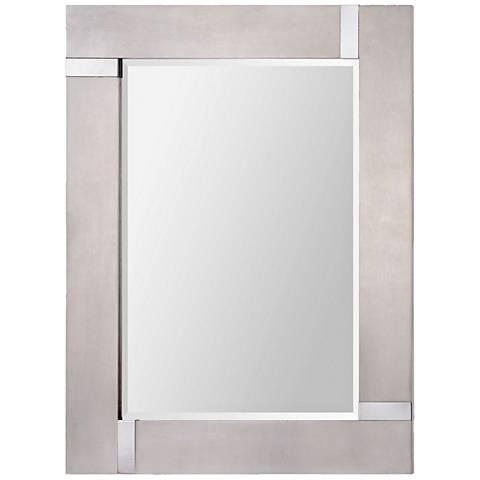 """Capiz Silver Leaf 30"""" x 40"""" Rectangular Wall Mirror"""