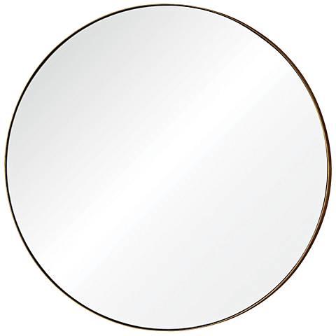 """Oryx Gold Leaf 29 1/2"""" Round Wall Mirror"""