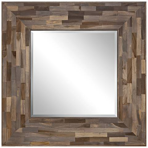 """Morris Weathered 37"""" Square Wall Mirror"""