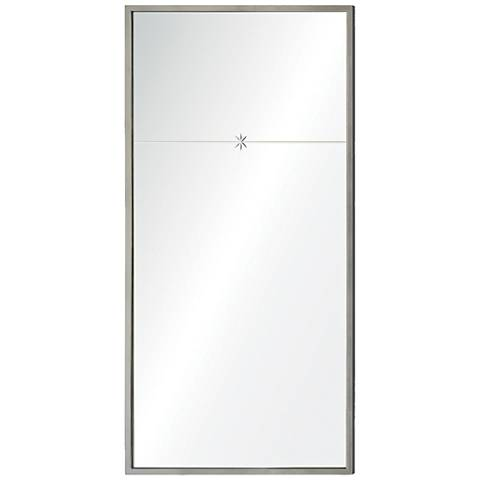 "Fellini Silver Leaf 22"" x 44"" Rectangular Wall Mirror"