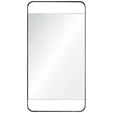 "Tiffey Charcoal Gray 20"" x 38 1/4"" Rectangular Wall Mirror"