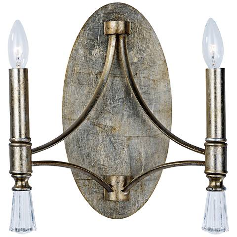 "Maxim Regal 13"" High Silver Gold 2-Light Wall Sconce"